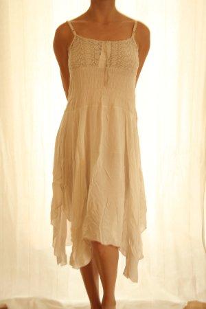 Vestido Hippie beige claro Viscosa