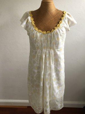Max Mara Babydoll Dress sand brown-white