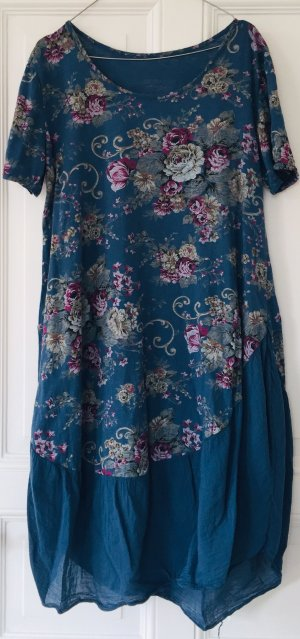 Made in Italy Balloon Dress steel blue-violet