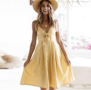 Cut out jurk goud Oranje
