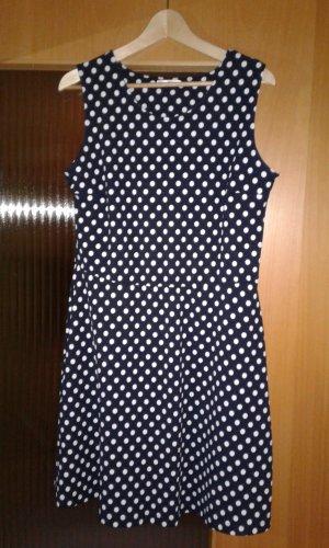 Sommerkleid gepunktet blau/weiß Promod Gr.44 neu