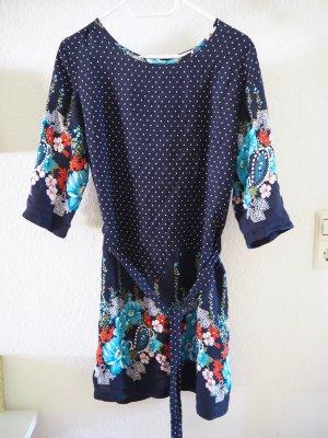 Sommerkleid, gepunktet mit Blumenprint, Gr. S, wie neu!