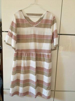 Sommerkleid gestreift Gr. S/36 rosa grau weiß