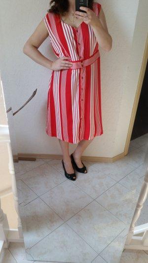 Sommerkleid gestreift rot weiß 42
