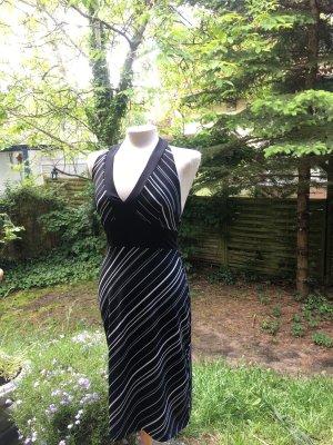 Sommerkleid gestreift Schwarzweiß