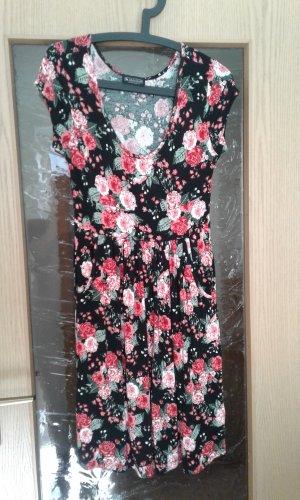 Sommerkleid Gr.36 Laura Scott schwarz mit Rosen