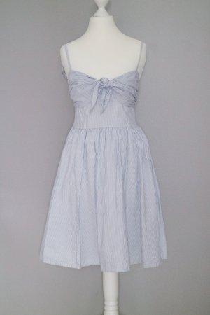 Sommerkleid Gr. 36 mit Spaghettiträgern blau/weiß gestreift Schleife vorne