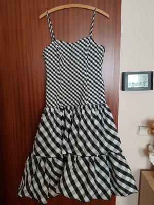 Balloon Dress white-black