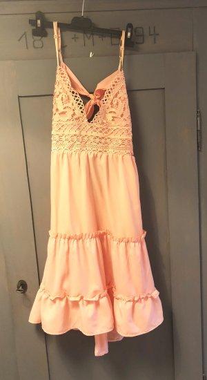 Sommerkleid Gr. M Aprikose Neu Kleid Spaghettiträger