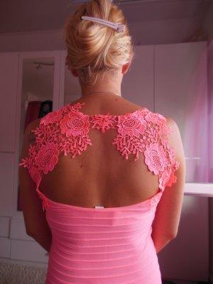 Sommerkleid, Gr. XS, rosa, mit schöner Spitze hinten, selten getragen