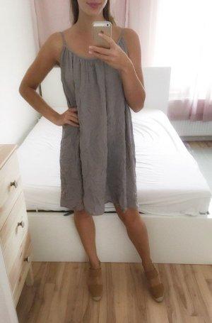 Sommerkleid grau Rückenausschnitt Viskose luftig one size