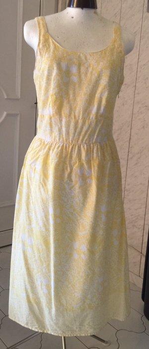 Eddie Bauer Vestido bustier blanco-amarillo pálido