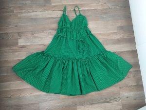 Vestido estilo flounce verde