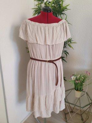 Sommerkleid hell mit Streifen, Gr. L