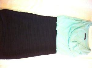 Sommerkleid helltürkis mit schwarz Jennifer Taylor Größe S
