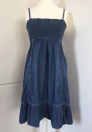 Hallhuber Vestido vaquero azul-azul acero lyocell