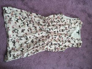 Robe chiffon blanc cassé polyester