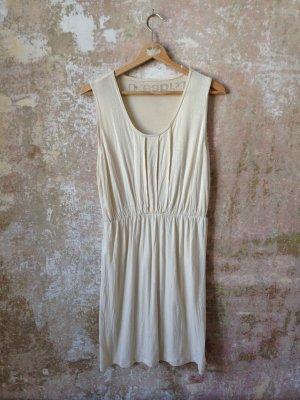 Vestido de tela de sudadera blanco puro-beige claro Algodón