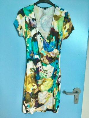 Sommerkleid in blau und türkis Farbtönen