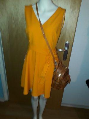 sommerkleid in orange gelb