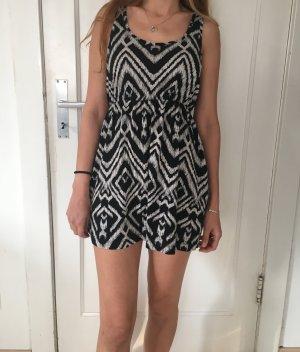 Sommerkleid in schwarz/weiß , H&M