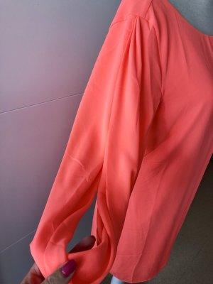 Ark & Co Robe découpée orange fluo