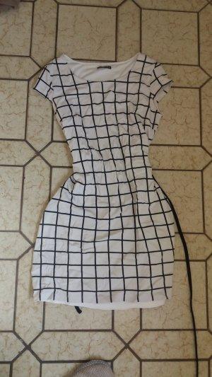 Street One Stretch jurk wit-zwart Viscose