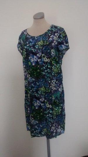 Sommerkleid Kleid Gr. UK 14 Eur 42 blau grün Minikleid neu
