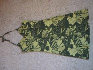 Sommerkleid / Kleid, grün mit Blumenmuster, Größe S