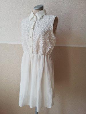 Chiffon Dress white-silver-colored