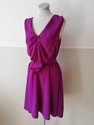Sommerkleid Kleid kurz Next Gr. UK 10 EUR 38 D 36 S violett pink lila gerüscht