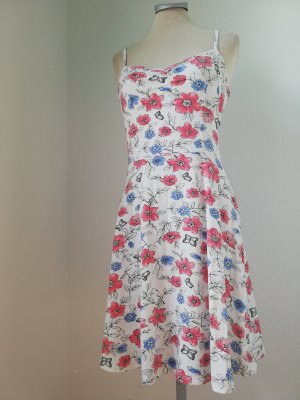 Sommerkleid Kleid kurz weiß Blumen Gr. UK 10 EUR 38 S M Dorothy Perkins Minikleid kurz