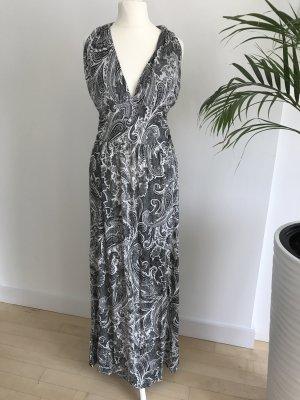 Maxi-jurk wit-zwart