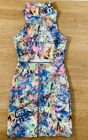 Sommerkleid Kleid mit Reißverschluss