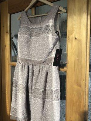 Laona Off-The-Shoulder Dress beige-oatmeal