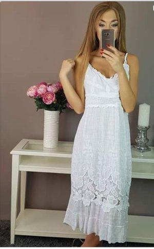 Kanten jurk wit