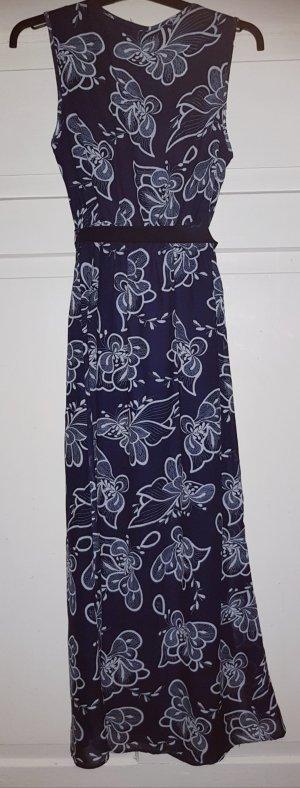 Sommerkleid lang - blau-weiß - ungetragen
