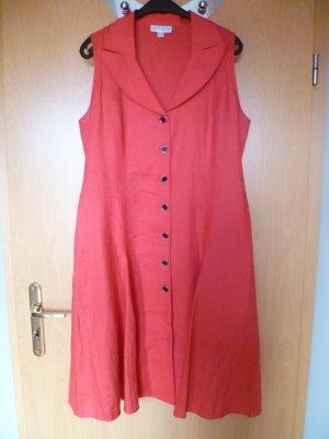Ashley Brooke A Line Dress red linen