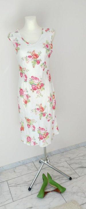 Sommerkleid Leinenkleid romatisches Blumenmuster +++ - Wenn Sie das Gefühl haben, wir könnten uns auf einen Preis einigen ... so senden Sie mir doch Ihre Preisvorstellung +++