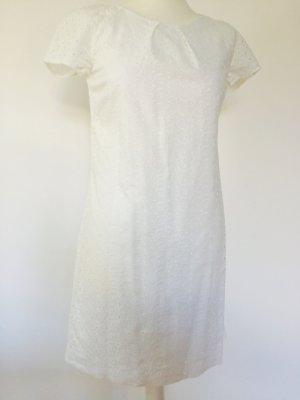 Sommerkleid Mango weiß spitze XS etuikleid