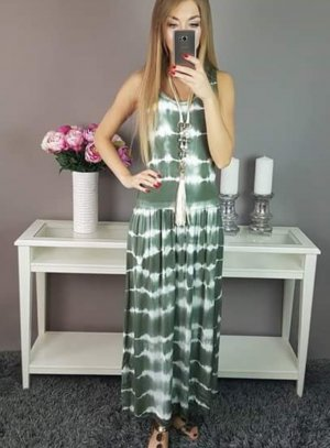 Maxi Dress white-khaki