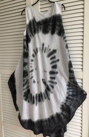 Sommerkleid Maxikleid beige schwarz Batik L XL Trend