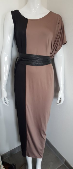 Maxi Dress camel-black