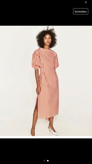 Zara Midi Dress salmon-white