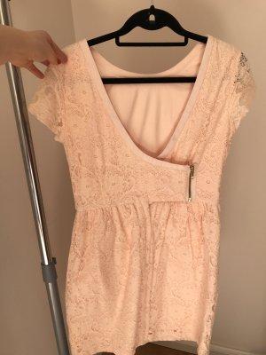 Sommerkleid Mini Spitzen Kleid in Puder Apricot