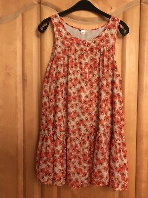 Sommerkleid Minikleid Blumenkleid Longtop - H&M
