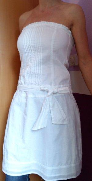 Sommerkleid mit abnehmbaren Trägern und Bindeband Gr. 34