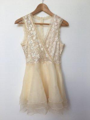 Volante jurk veelkleurig