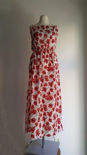 Vestido playero rojo-blanco