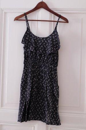 Cotton On Mini Dress dark blue-white viscose